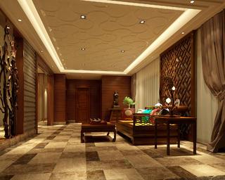 中式风格别墅休闲室装修效果图