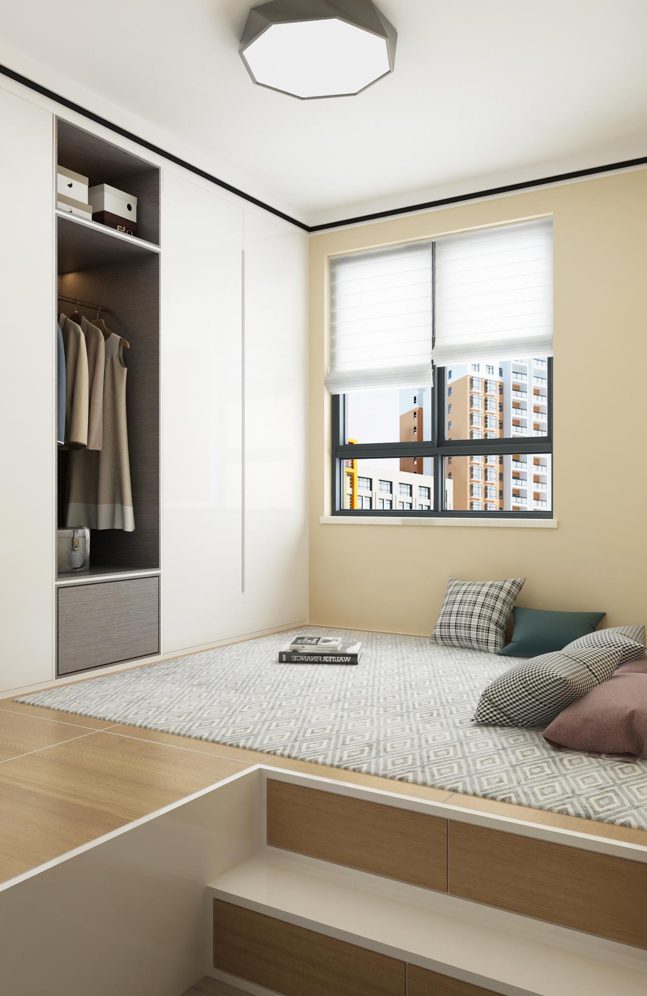 现代风格两居榻榻米装修效果图