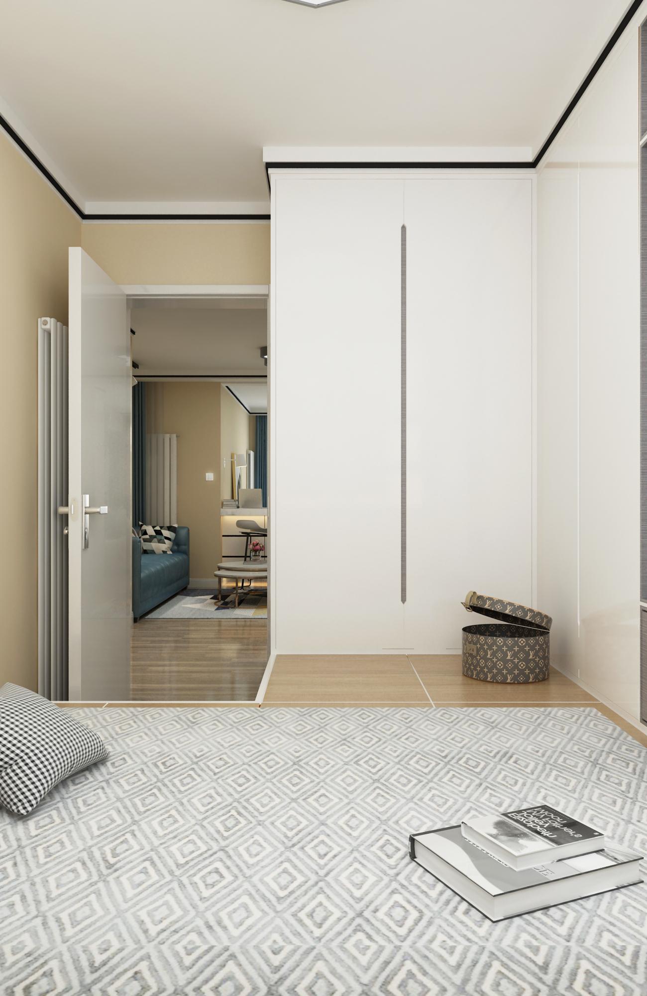 现代风格两居装修壁柜设计