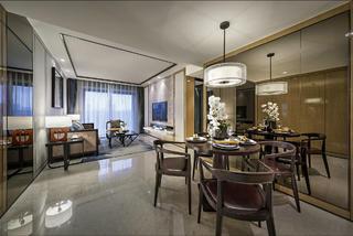 现代中式两居餐厅装修效果图