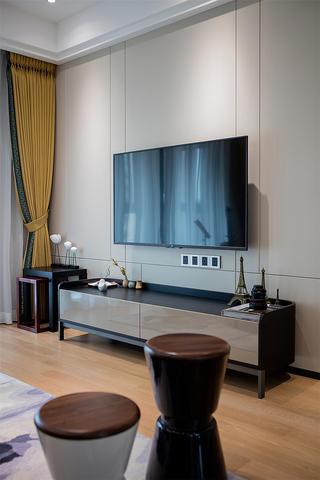 120㎡现代简约风电视背景墙装修效果图