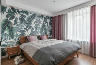 90㎡北欧两居卧室装修效果图