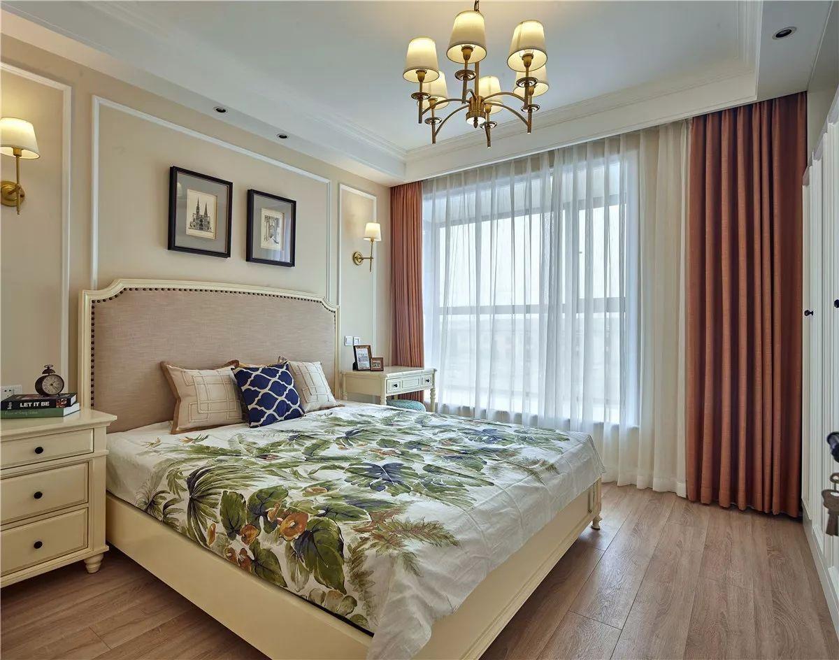 130平美式风卧室装修效果图