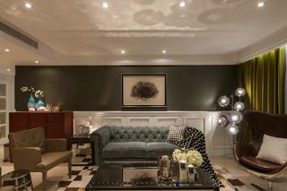 175㎡美式风格沙发背景墙装修效果图