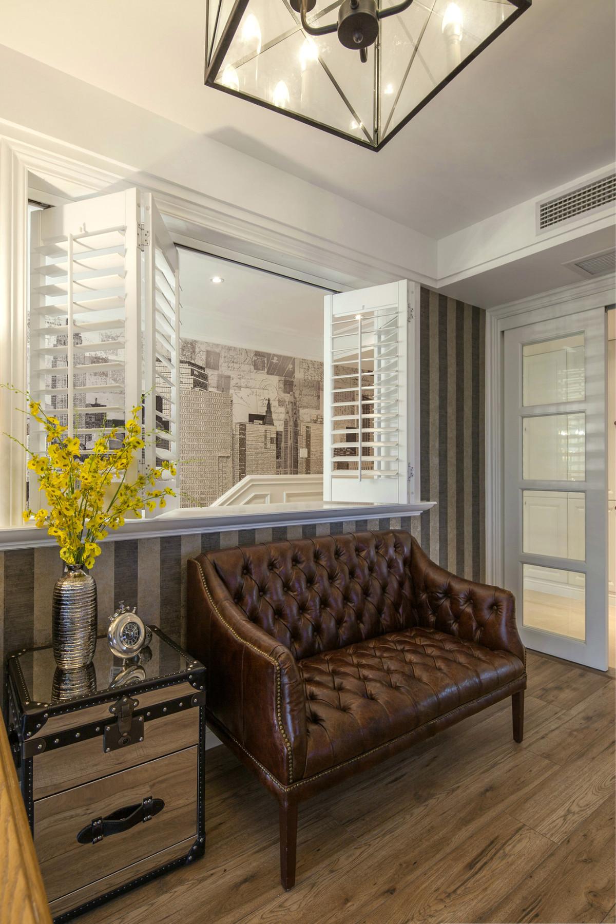 175㎡美式风格装修折叠百叶窗设计