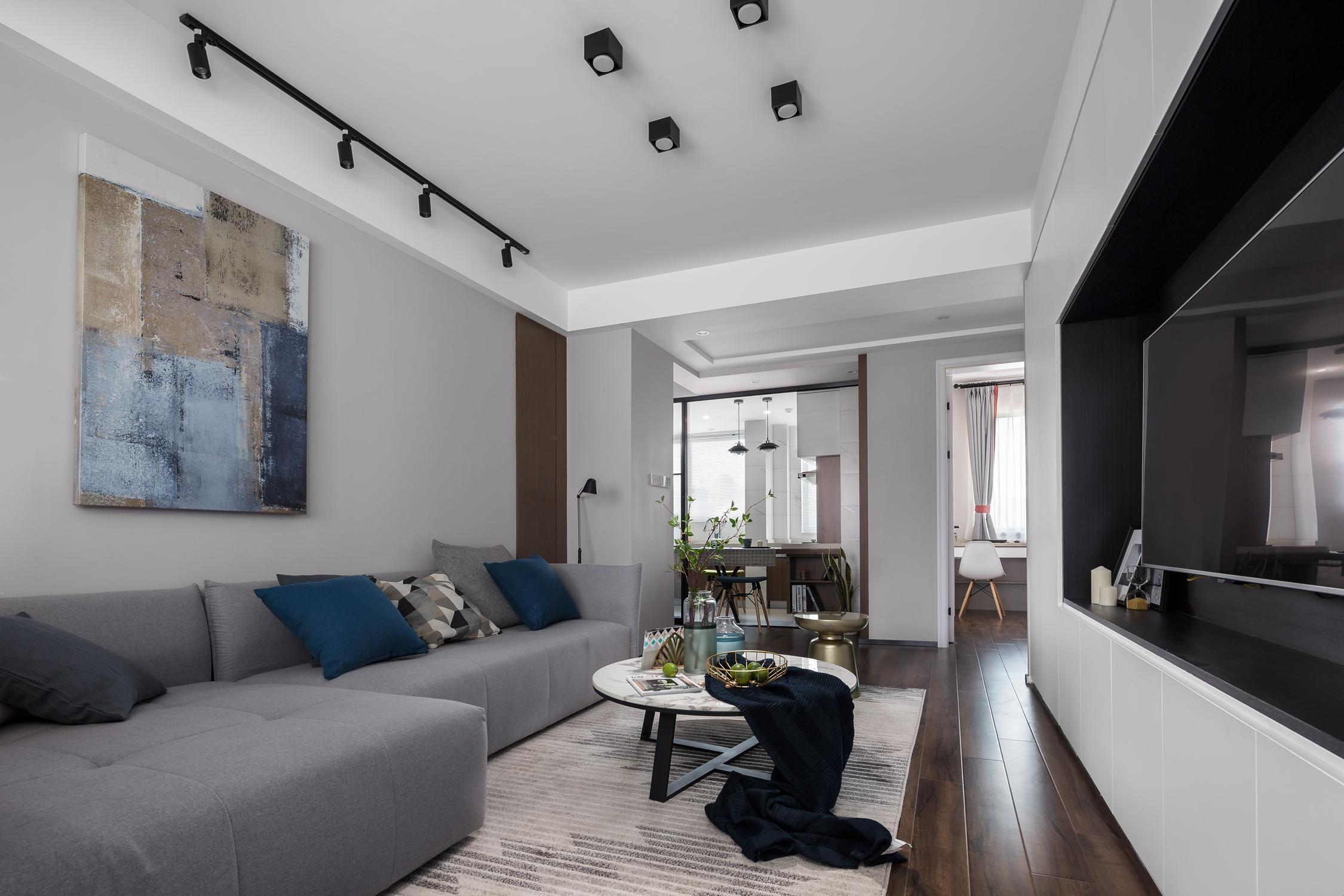 78平米二居室客厅装修效果图