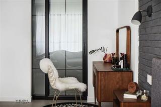 北欧混搭风两居室装修梳妆台设计
