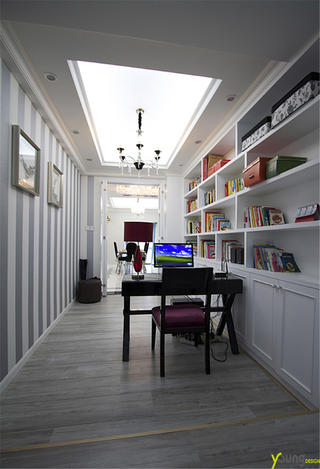 170平新古典风书房装修效果图
