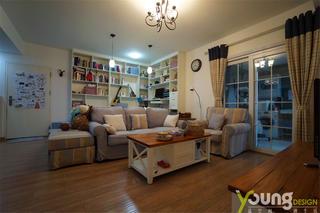 68平米两居室客厅装修效果图