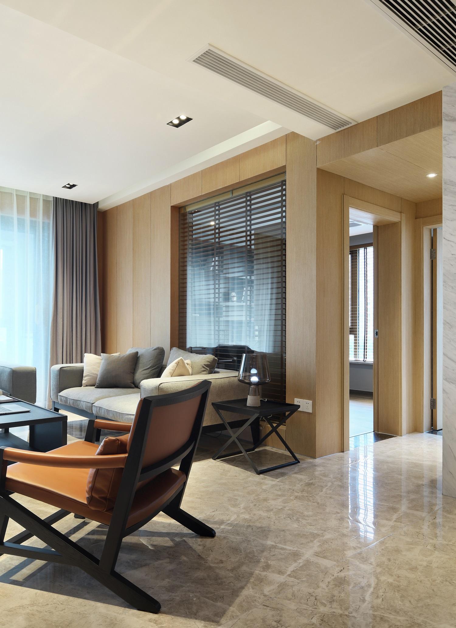 现代简约三居沙发墙装修效果图