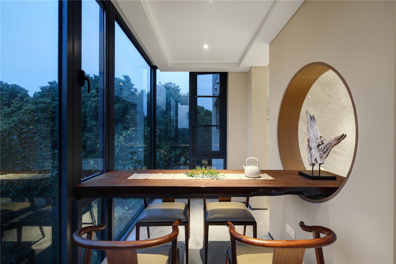 189平米三居室阳台茶室装修效果图