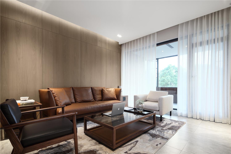 189平米三居室客厅沙发墙装修效果图