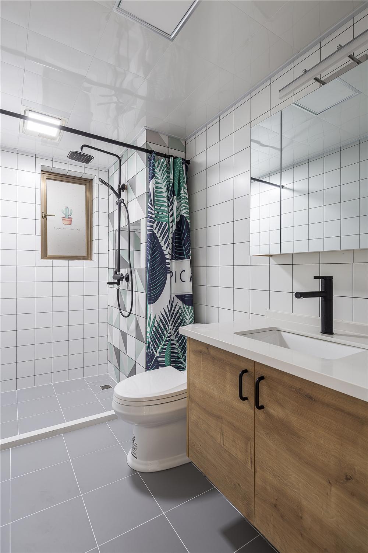 北欧风格三居室卫生间装修效果图