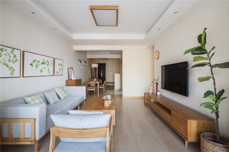 100㎡日式风格客厅装修效果图