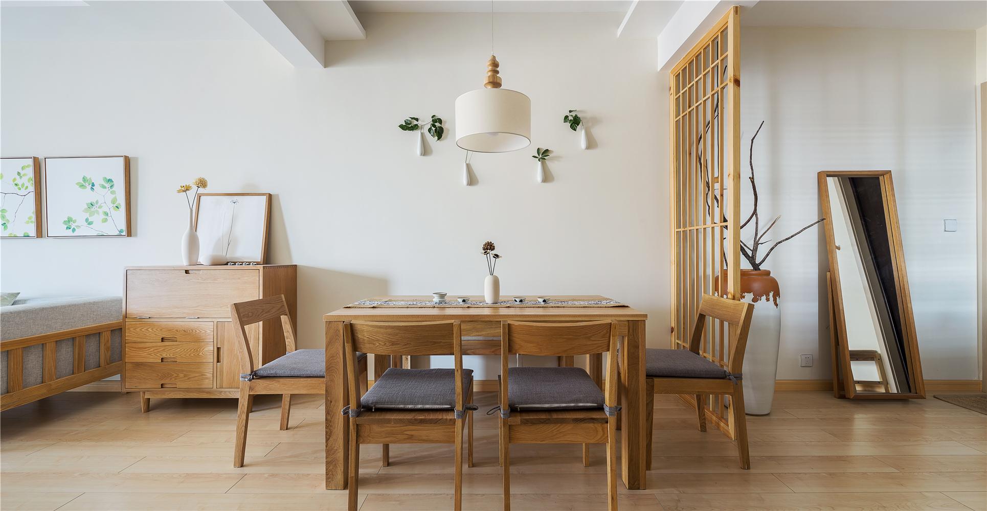 100㎡日式风格餐厅装修效果图