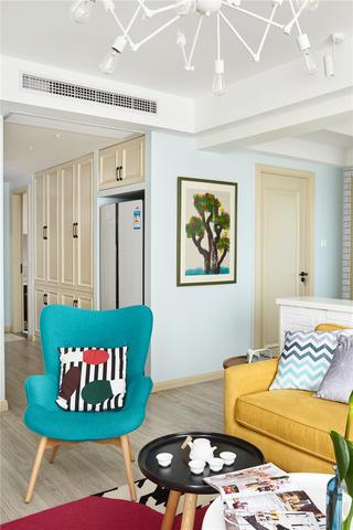 北欧风两居装修休闲椅设计