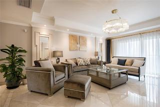 170平法式风格客厅装修效果图
