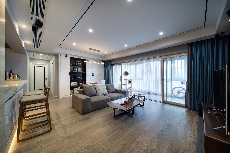 180平现代简约客厅装修效果图