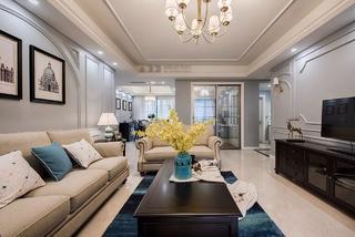 美式风格四居客厅装修效果图
