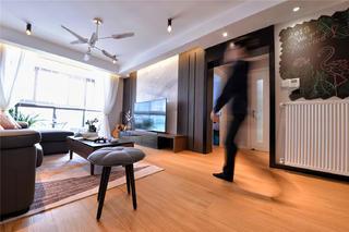 100㎡现代简约客厅电视墙装修效果图