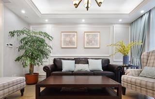 180㎡美式风格沙发背景墙装修效果图