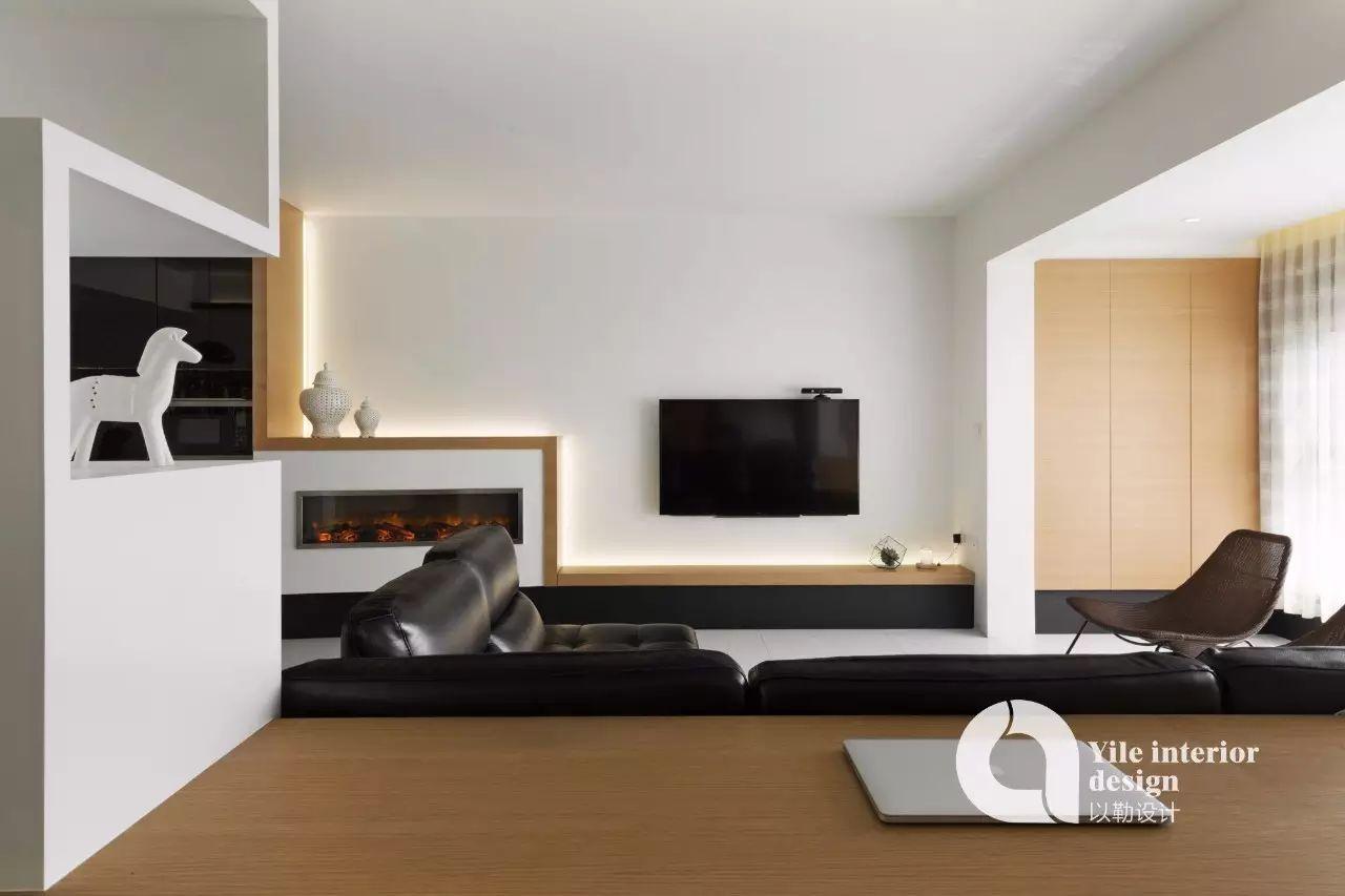110㎡现代简约电视墙装修效果图