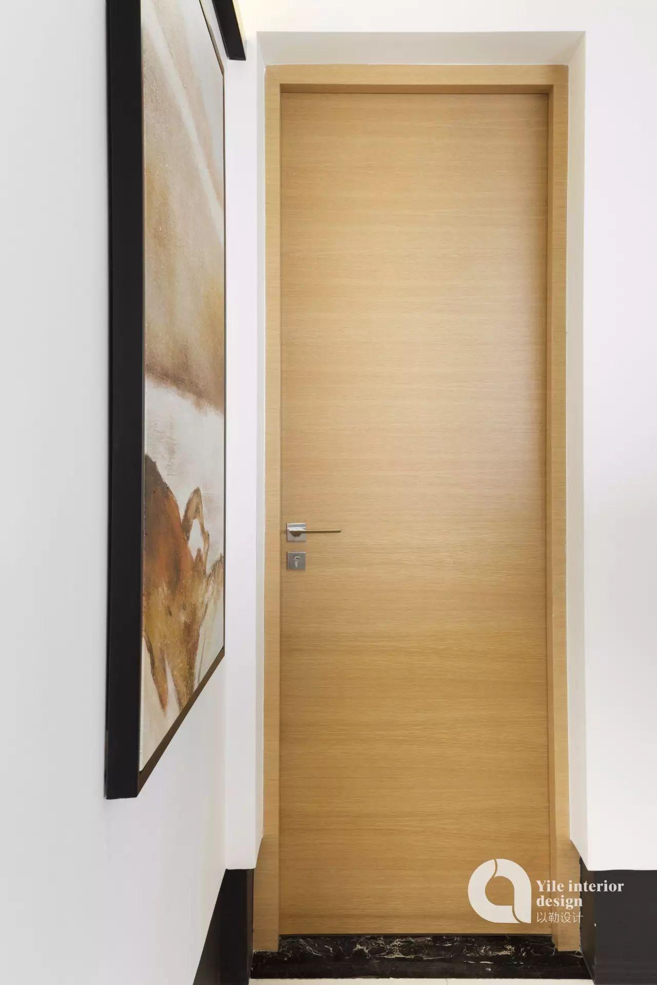 110㎡现代简约装修木门设计