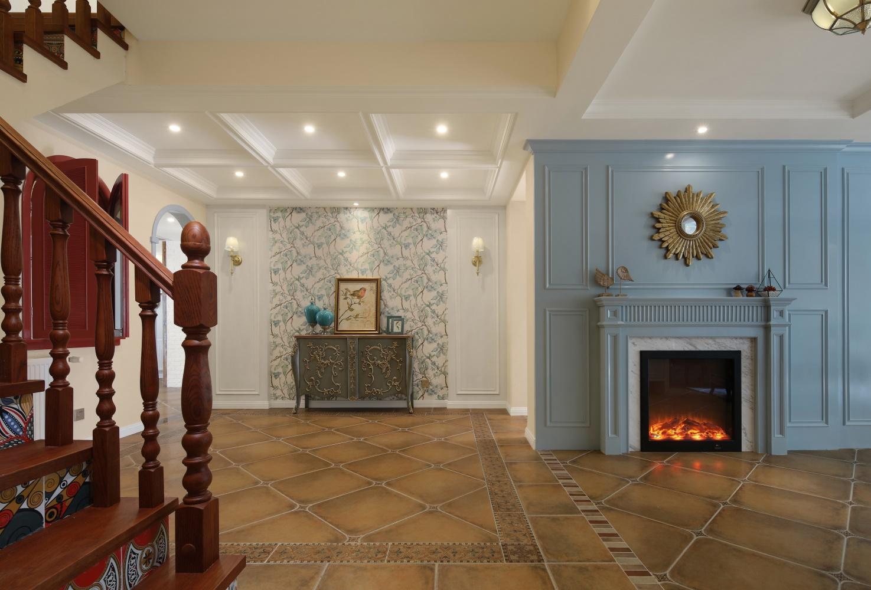 美式风格别墅门厅装修效果图