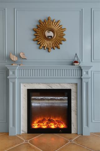 美式风格别墅装修壁炉设计