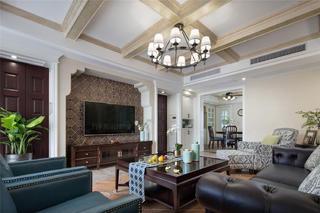 180平美式风格客厅每日首存送20