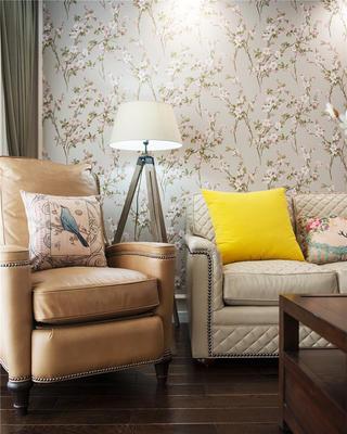 140㎡美式风格装修客厅一角