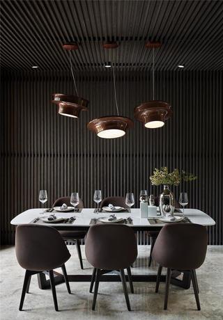 现代别墅餐厅装修效果图
