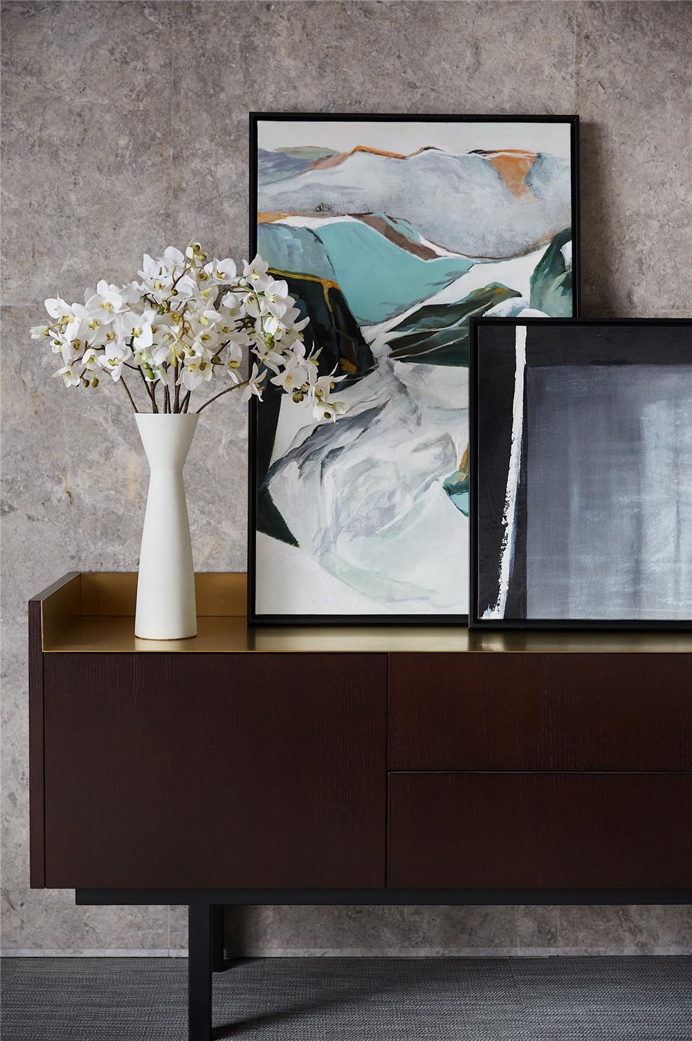 现代别墅装修边柜设计