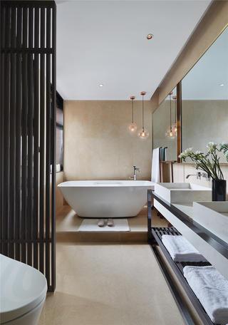 现代别墅卫生间装修效果图