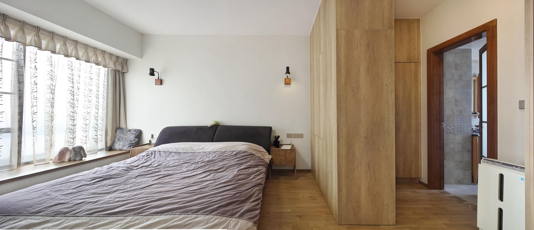 160平米三居卧室装修效果图