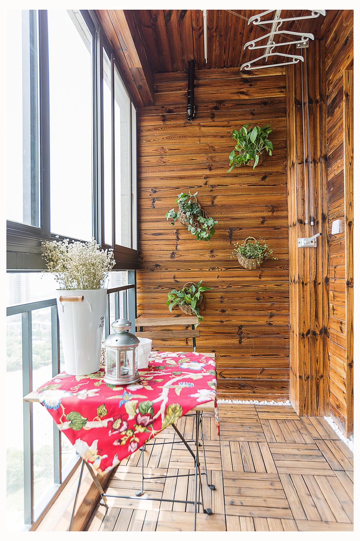 北欧风格两居阳台装修效果图