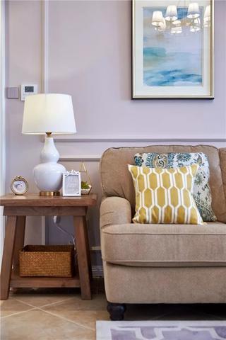 128平美式风格装修沙发一角