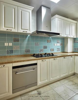 125㎡美式三居厨房装修效果图