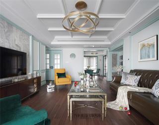 美式风格四房客厅装修效果图