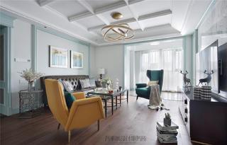 美式风格四房客厅装修注册送300元现金老虎机图