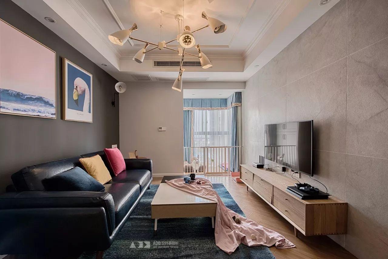 67平米二居室客厅装修效果图