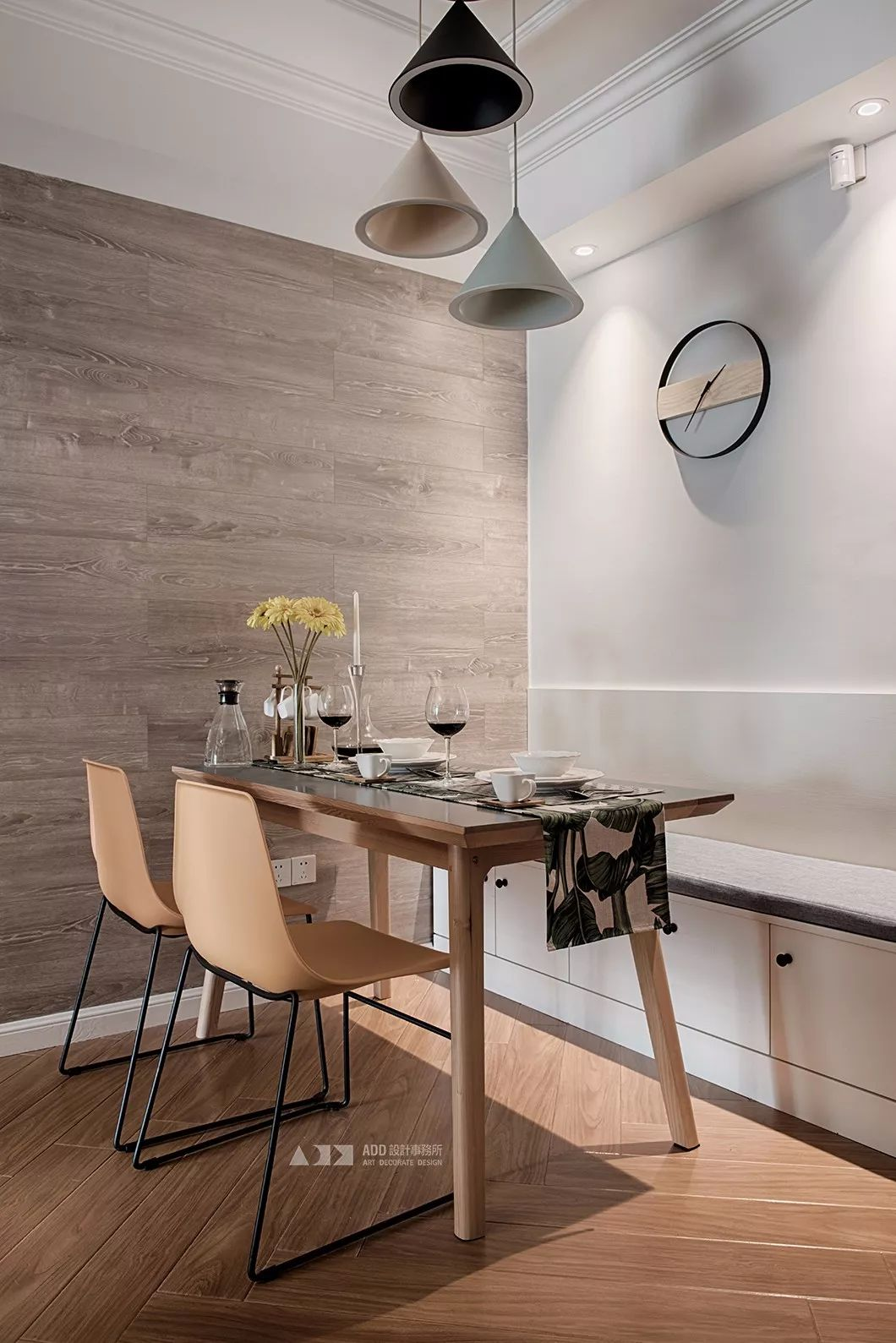 67平米二居室餐厅装修效果图