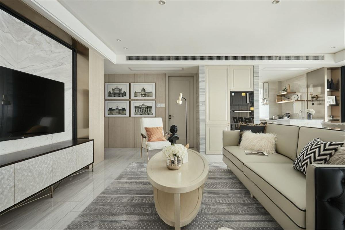120平米三居室客厅装修效果图