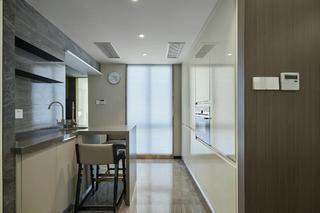 现代中式三居装修厨房吧台设计