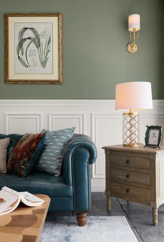 137平美式风格装修客厅一角