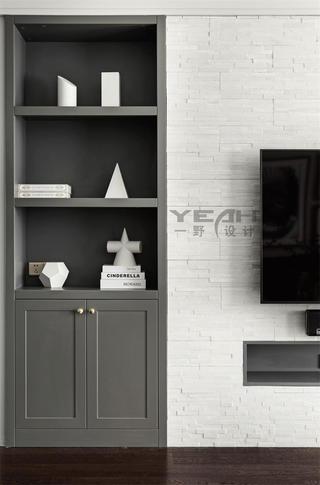 142㎡三居室装修电视墙一角