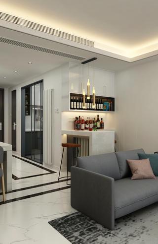現代風格三居室裝修吧臺設計