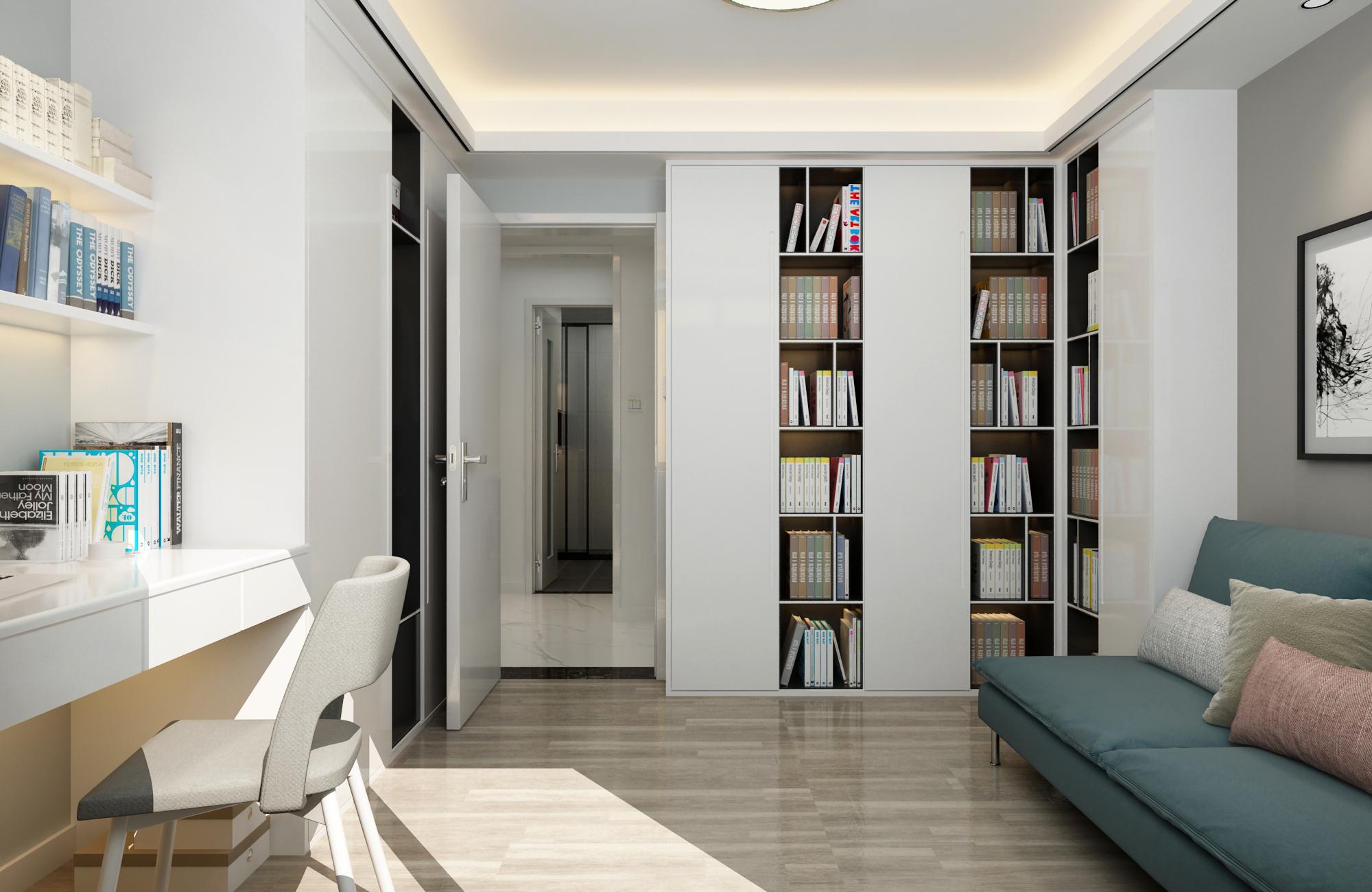 现代风格三居室书房装修效果图