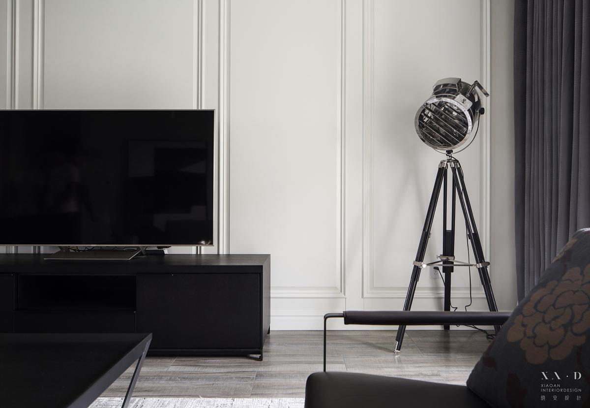 140平米三居室电视背景墙装修效果图