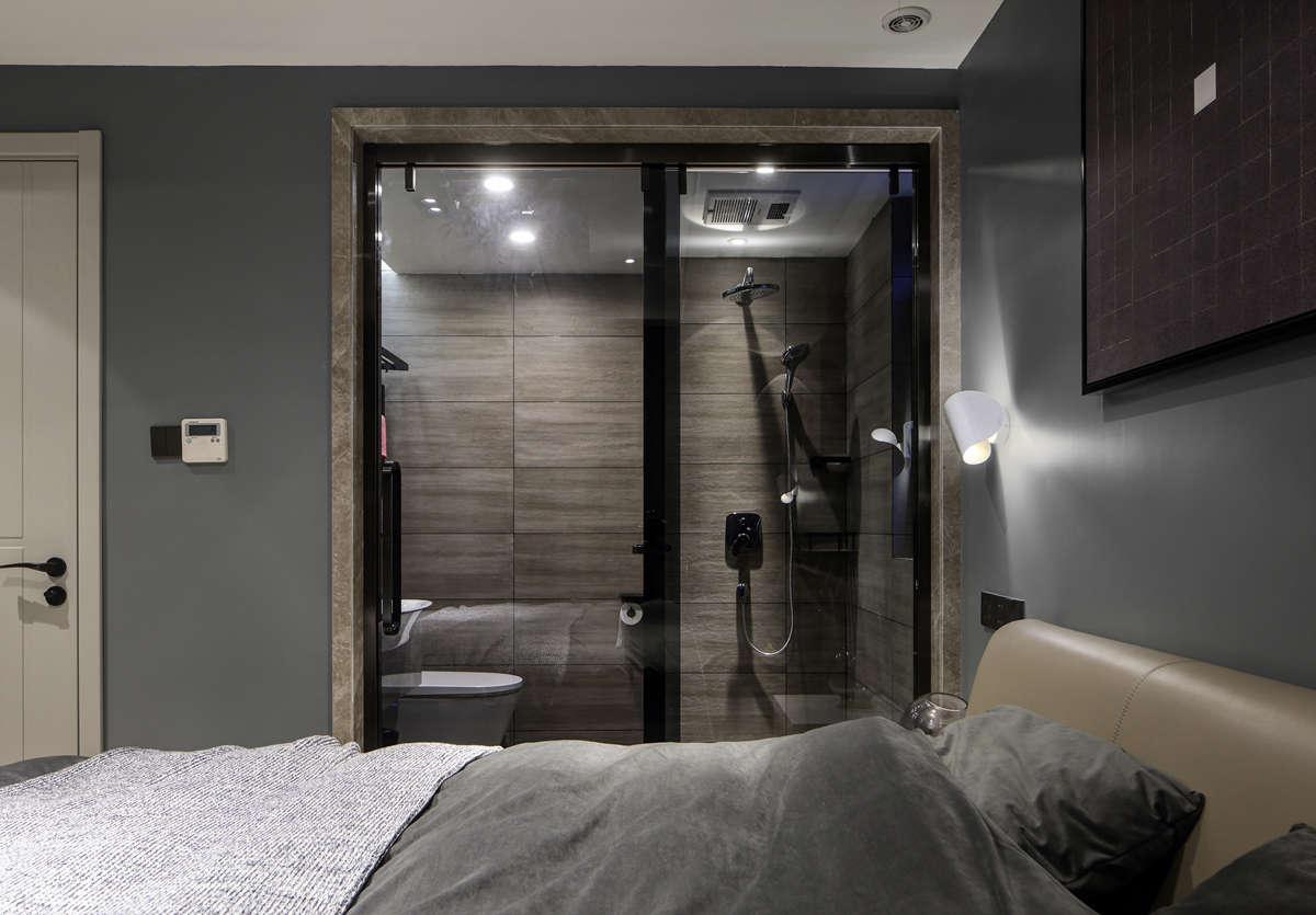 125㎡现代简约装修卧室卫生间设计